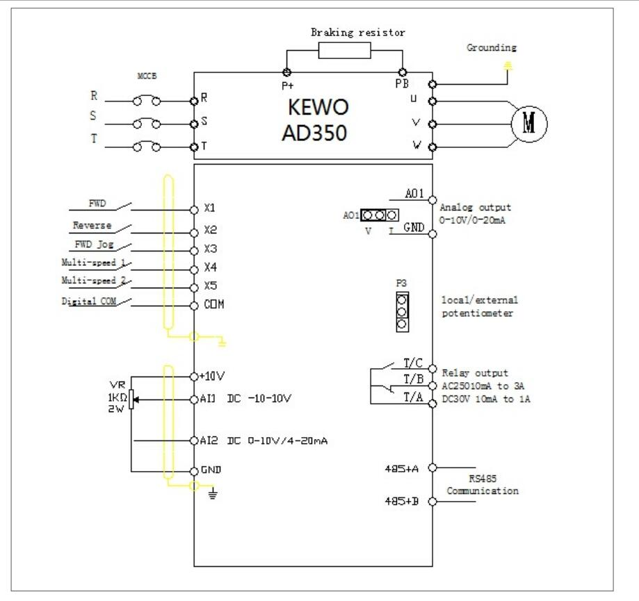 Kewo Ad350 High Performance Vector Control Mini Frequency